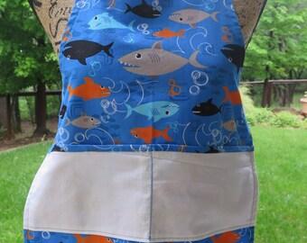 Sharks Apron- Child size Large