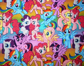 Fabric - My little Pony - Packed ponies - cotton print.