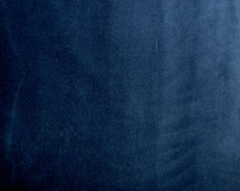 Fabric - Stretch velvet fabric - soft navy