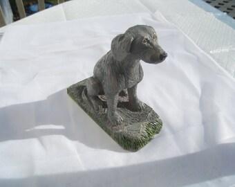 Weimaraner Dog Woodcarving