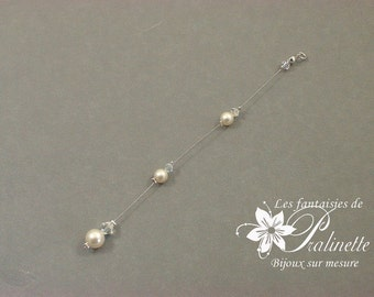 Bijoux mariage de dos chaine et cristal, pendentif mariage de dos perles en cristal, accessoires, Bridal jewelry backdrop necklace crystal