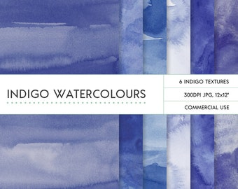 Indigo / deep navy watercolor digital backgrounds