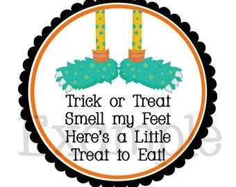 Personalized Halloween Sticker-Personalized Halloween Gift Tag-Set of 12