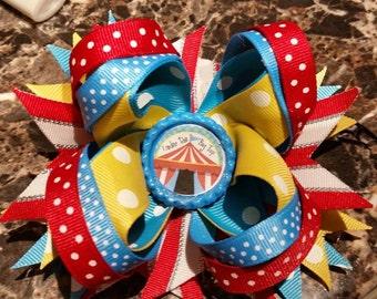 circus layered hair bow