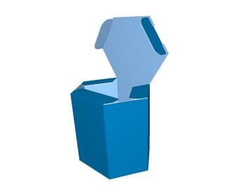 Hexagonal gift box drawing