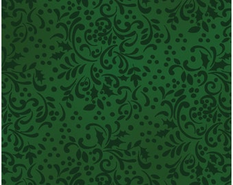 Home for the Holidays - Scroll Pine Green by Clothworks (1746-113) Fabric Yardage
