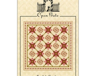 Pattern - English Garden Quilt by Open Gate Quilts (OPG134) Paper Pattern