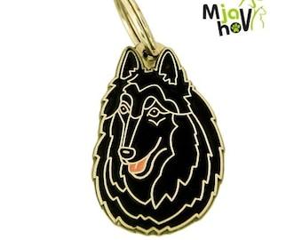 Personalised, stainless steel, breed pet tag, BELGIAN SHEPHERD, GROENENDAEL