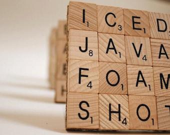 Scrabble Coasters - Set of 4