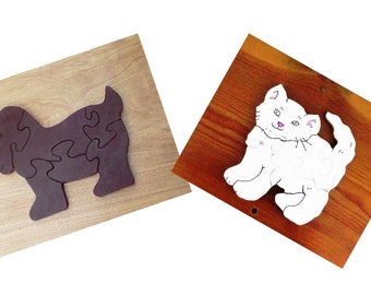 Puppy and Kitten Puzzle Set