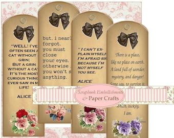 Alice in Wonderland book marks Digital