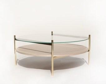 """Duotone Circular Coffee Table 35"""""""