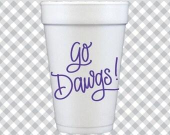 Go Dawgs! Cups - Purple
