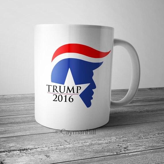 Donald Trump Coffee Mug 2016 Trump Hair Coffee Cup Toupee