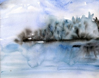 """Watercolor """"on the Lake"""""""