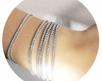 The Isla- Elegant Swarovski Crystal Tennis Bracelet,  Silver