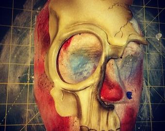 Skull Half-Mask handmade leather halloween mask