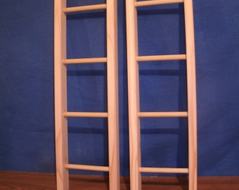 "wooden ladder, 20"" unfinished, towel ladder, toy ladder, jewelry ladder, ladder decor"