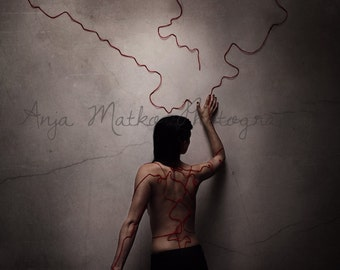 Conceptual Fine Art Print, Giclee, Map