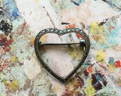 Vintage Marcasite Open Heart Brooch // hand-picked by Kelly Diaz