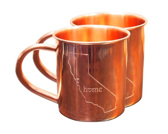 Set of 2 California Home Mugs - 14 oz