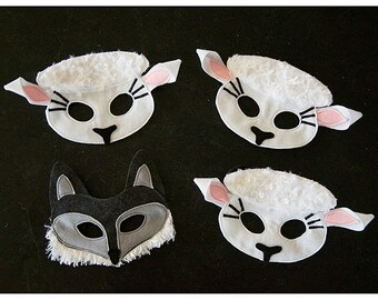 Wolf in Sheep's Clothing Mask Set