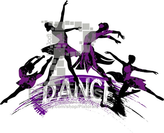 4 dancers logo line art eps file vector and jpeg png pdf