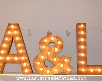 31 inches Light letter. Iluminated Letter. Great for any event :)