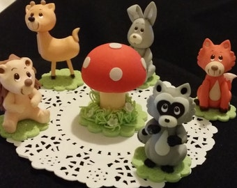 Forest Animals, Woodland Cake Topper, Woodland Baby Shower, Forest Cake Topper, Woodland Baby Shower Decor, Woodland Baby Shower Decorations