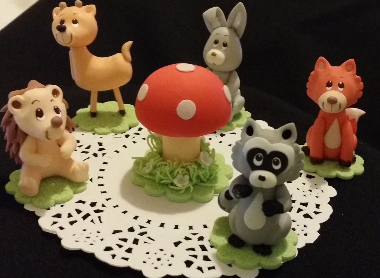 Forest cupcake topper woodland cake topper woodland baby for Animal cake decoration