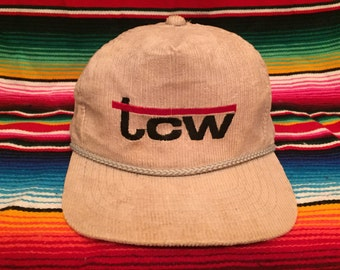 VTG TCW Tennessee Commercial Warehouse Khaki Corduroy hat snapback