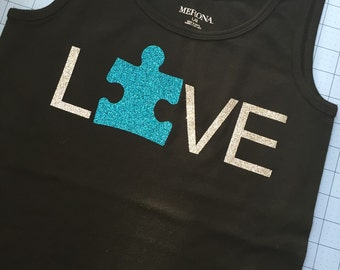 Autism awareness tank top.