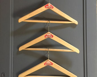 Mascotte' French Vintage Wooden Coat Hangers
