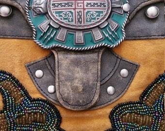 CHRISTIANA Embellished Hobo Beaded Saddle Bag