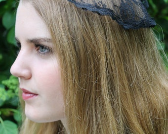Vintage Inspired Chantilly Lace Chapel Cap