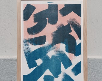 Shapes & Stories risograph print #1 by Studio Marije Pasman
