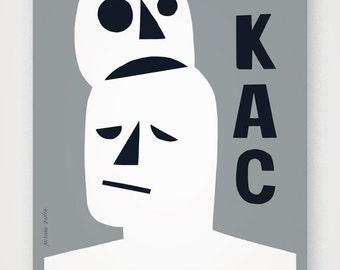 KAC (HANGOVER) (v.1). Fine quality print of original artwork. Hand signed.