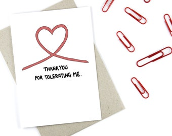 Funny Cheeky Thank You Card For Loved One