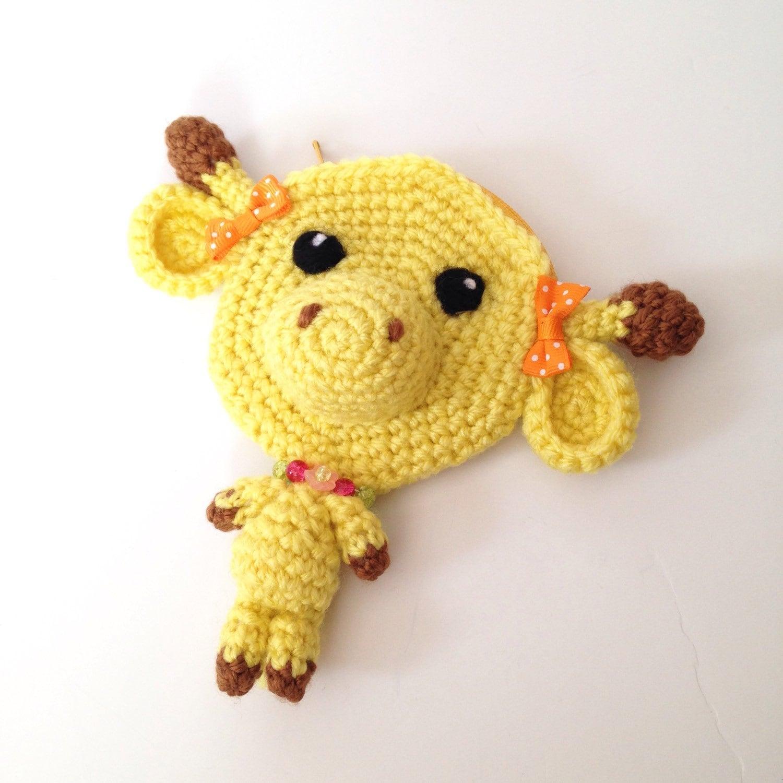 Cuddly Amigurumi Giraffe : Amigurumi Giraffe Crochet Giraffe Plush Crochet Pouch Kawaii