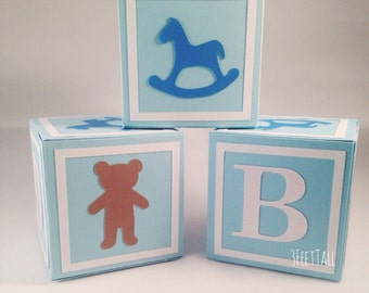 Medium Alphabet Blocks baby shower decoration, party decoration, 3x3x3 inches