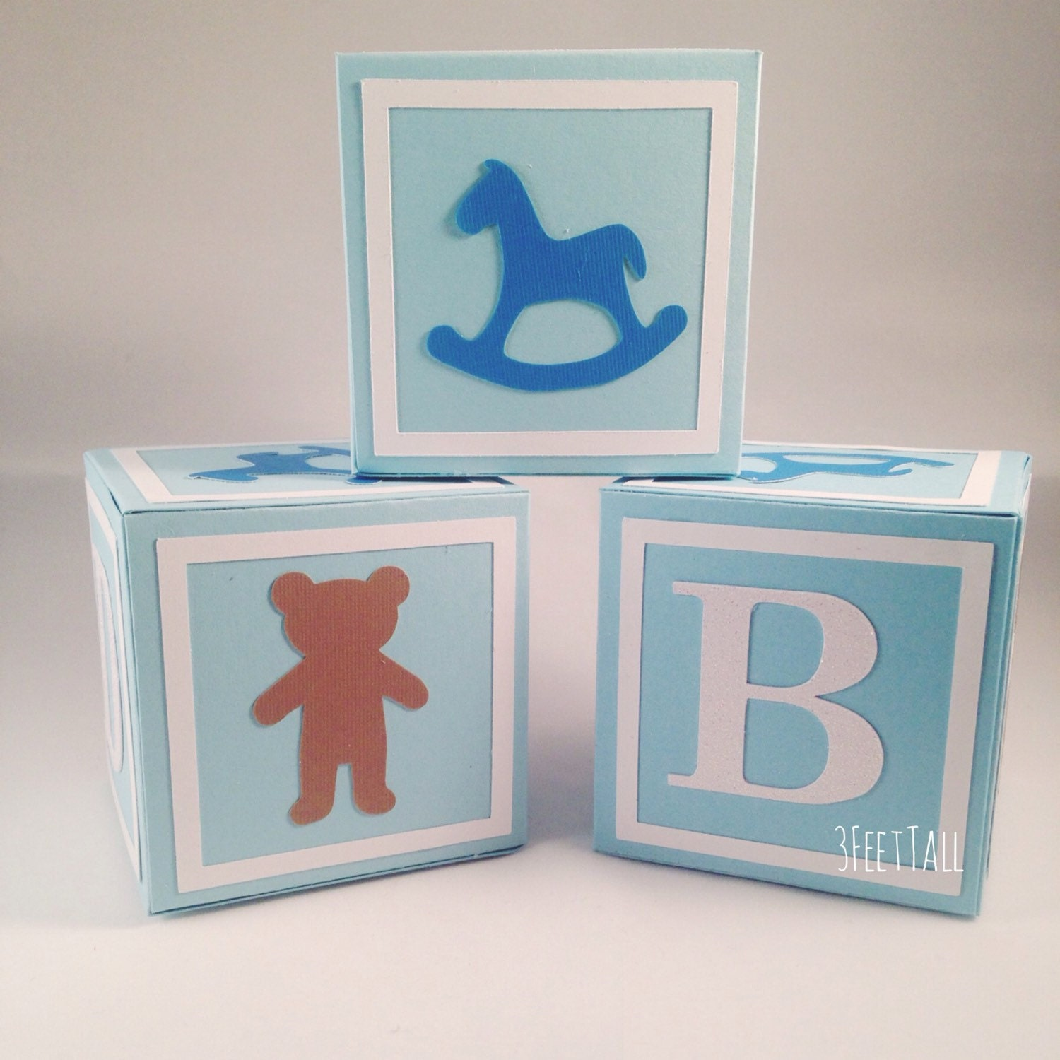 medium alphabet blocks baby shower decoration party