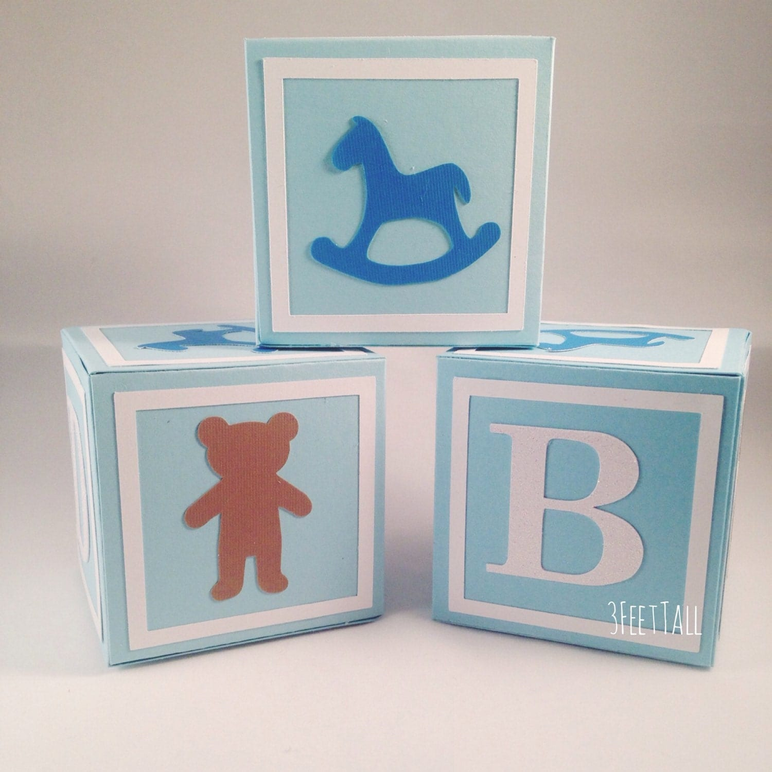 Medium alphabet blocks baby shower decoration party for Baby shower foam decoration