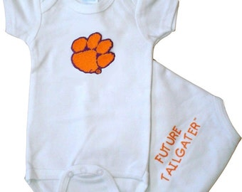 Clemson Tiger Future Tailgater Baby Bodysuit