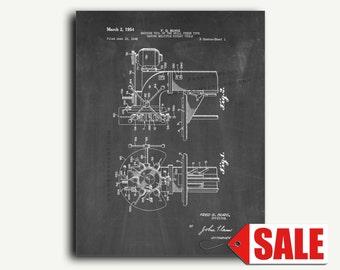 Patent Print - Drill Press Patent Wall Art Poster