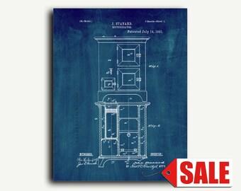 Patent Art - Refrigerator Patent Wall Art Print