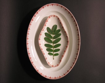 Earthenware Dish Sarreguemines - French Ceramic Set - Made in France - 1920 - French Collectible Kitchen - French Earthenware