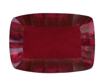 Blazing Red Triplet Quartz Loose Gemstone Cushion Cut 1A Quality 14x10mm TGW 7.40 cts.