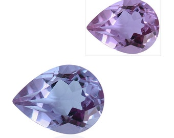 Lavender Alexite Synthetic Color Change Loose Gemstone Pear Cut 1A Quality 8x6mm TGW 0.90 cts.