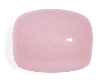 Pink Jade Dyed Cabochon Loose Gemstone Cushion Cut 9x7mm TGW 2.25 cts.