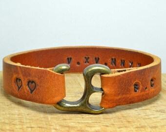 Men's Bracelet, Leather Bracelet,Man leather bracelet,Personalized Mens Bracelet,Genuine Leather,Personalized Bracelet,Private bracelet